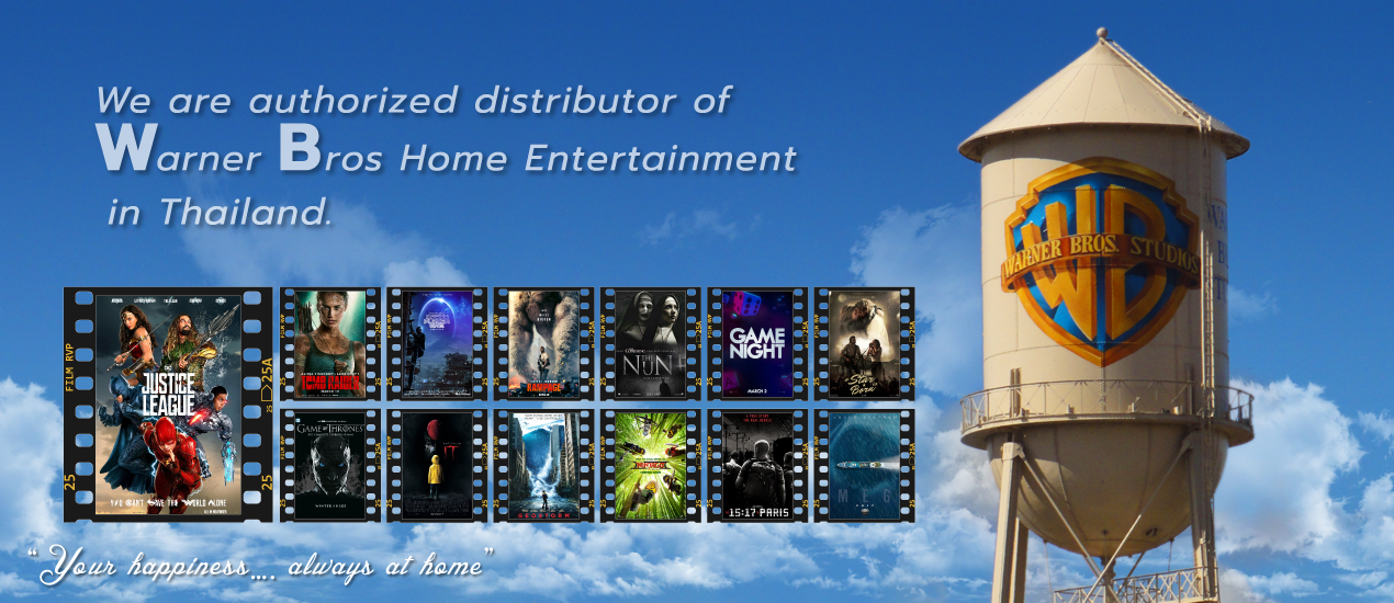 authorized distributor of Warner Bros.